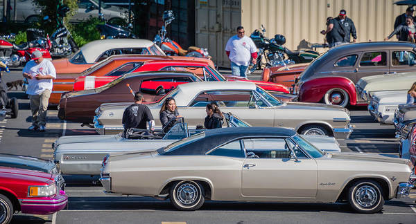 San Francisco Low Riders Poster featuring the photograph Sf Low Riders by Jayasimha Nuggehalli