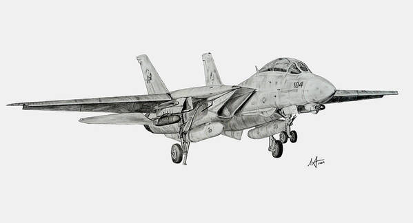 Tomcat Poster featuring the drawing Tomcat Almost Home by Nicholas Linehan