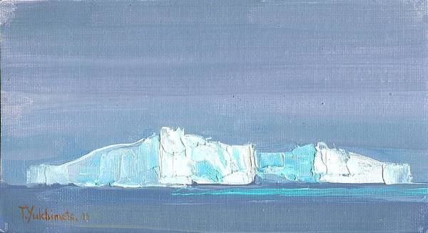 Iceberg Poster featuring the painting Waiting For Titanic by Tania Yukhimets