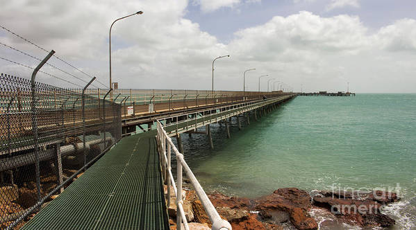 Steel Poster featuring the photograph The Port Of Broome With A Mesh Walk by Alybaba