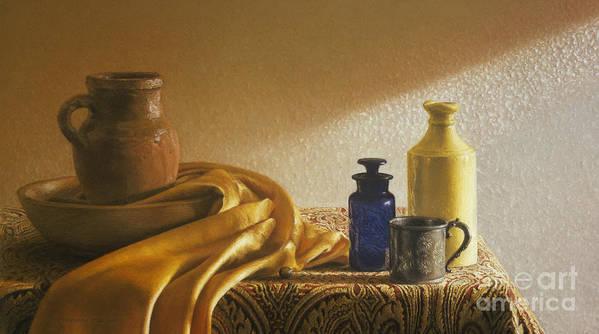 Vermeer-like Poster featuring the painting Inspired By Vermeer by Barbara Groff