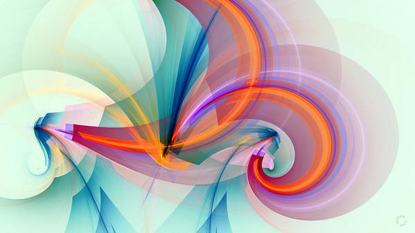 Abstract Art Poster featuring the digital art 1260 by Lar Matre