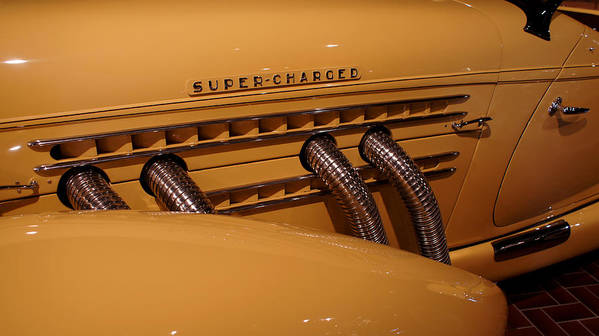 Automobile Poster featuring the photograph 1935 Auburn Supercharged by Kathleen Vogel