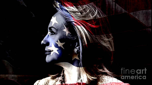 Hillary Clinton Paintings Mixed Media Poster featuring the mixed media Hillary 2016 by Marvin Blaine
