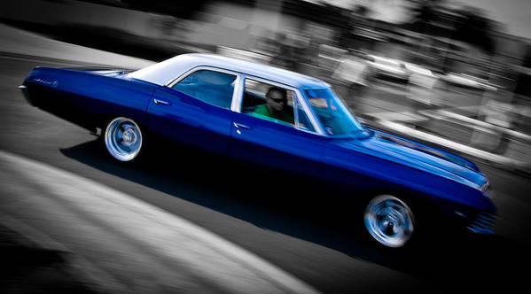 Chevrolet Poster featuring the photograph 67 Chev Impala by Phil 'motography' Clark