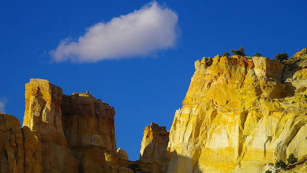 Clouds Poster featuring the photograph A Cloud Over Orange Rock by Jeff Swan