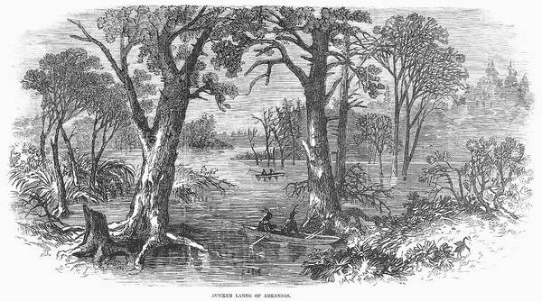 1869 Poster featuring the painting Arkansas Sunken Lands by Granger
