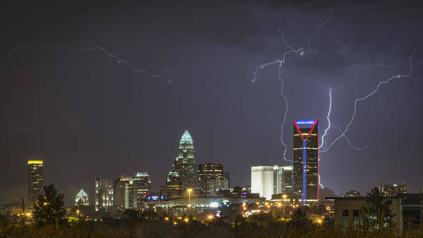 Charlotte Poster featuring the photograph Charlotte's Storm by Brian Young