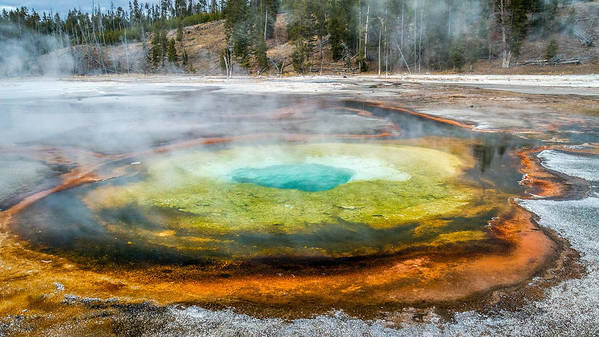 Chromatic Pool Poster featuring the photograph Chromatic Pool Yellowstone by Pierre Leclerc Photography