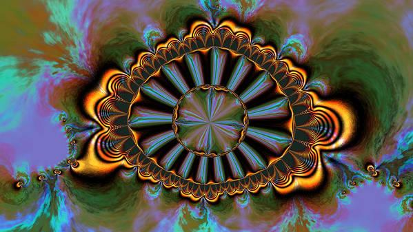 Digital Poster featuring the digital art Eye Of Centauris by Claude McCoy