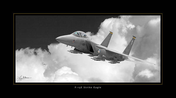 F-15 Strike Eagle Framed Prints Poster featuring the photograph F-15e Strike Eagle by Larry McManus