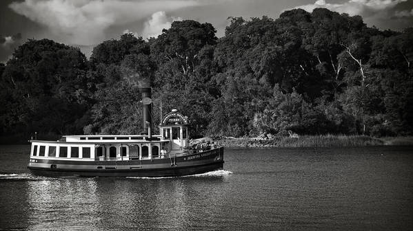 Black And White Poster featuring the photograph Ferry by Mario Celzner