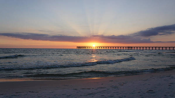 Sunset Poster featuring the photograph Glowing Sunset by Sandy Keeton