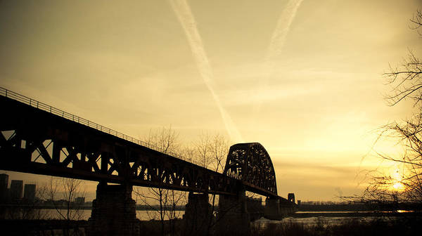 Jeffersonville Poster featuring the photograph Indiana Ky Bridge by Off The Beaten Path Photography - Andrew Alexander