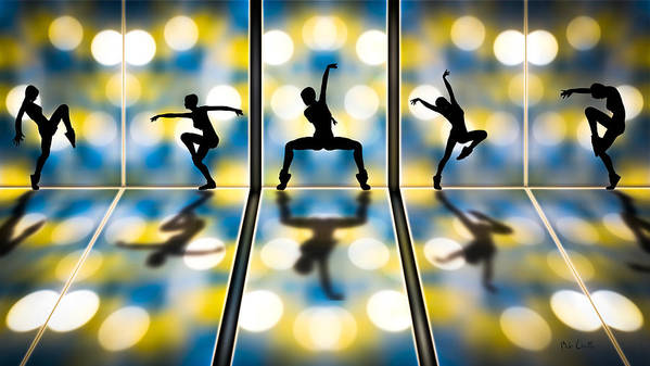 Dance Poster featuring the digital art Joy Of Movement by Bob Orsillo