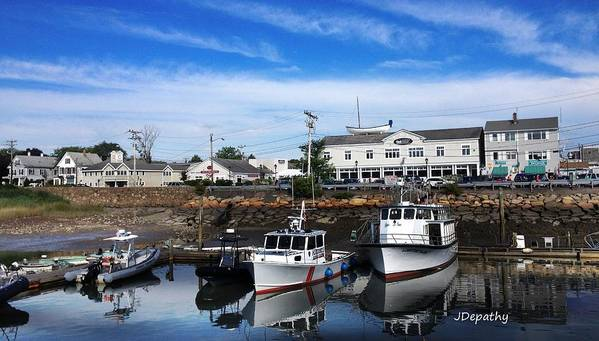 Ma Poster featuring the photograph Low Tide Plymouth Ma by Janet Depathy