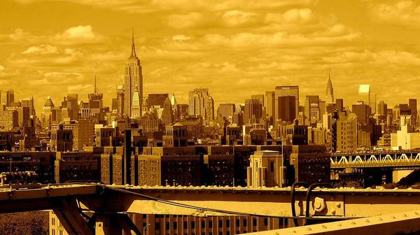Manhattan Ny Prints Poster featuring the photograph Manhattan Skyline by Monique's Fine Art