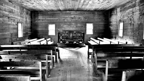 Cade's Cove Poster featuring the photograph Old Time Religion -- Cades Cove Primitive Baptist Church by Stephen Stookey