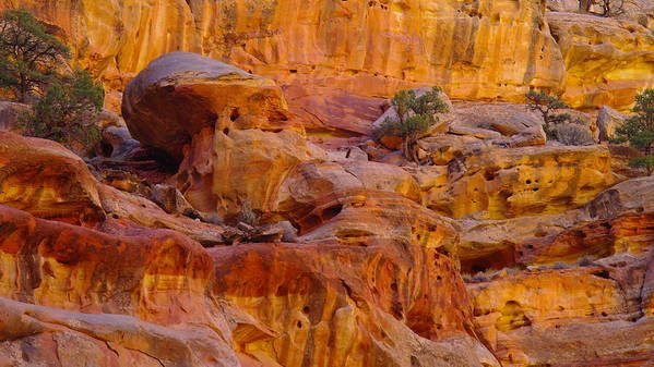 Southwestern Art. Southwestern Photography Poster featuring the photograph Orange Rock Formation by Jeff Swan