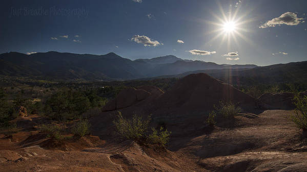 Pikes Peak Poster featuring the photograph Pike's Peak Sunset by Samantha Schram