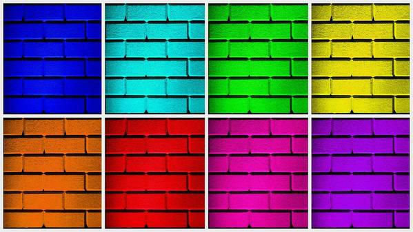 Blue Poster featuring the photograph Rainbow Walls by Semmick Photo