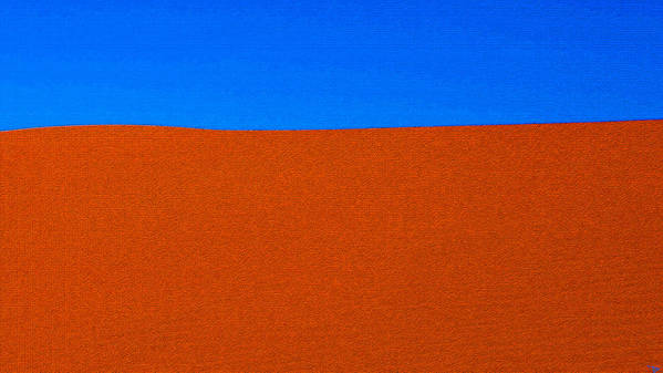 Red Desert Blue Sky Poster featuring the painting Red Desert Blue Sky by David Lee Thompson