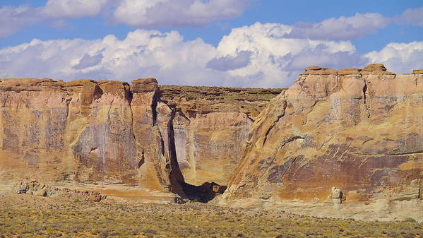 Views Poster featuring the photograph Rock Formations At Capital Reef by Jeff Swan