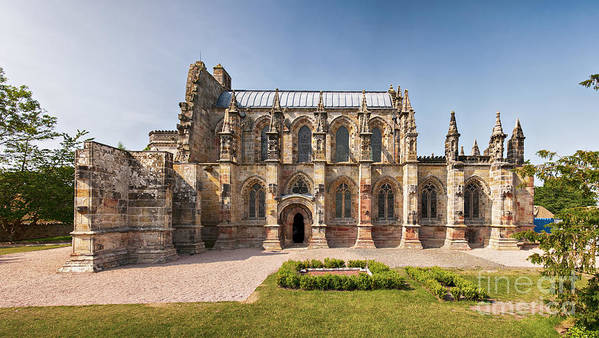 Vinci Poster featuring the photograph Rosslyn Chapel 01 by Antony McAulay
