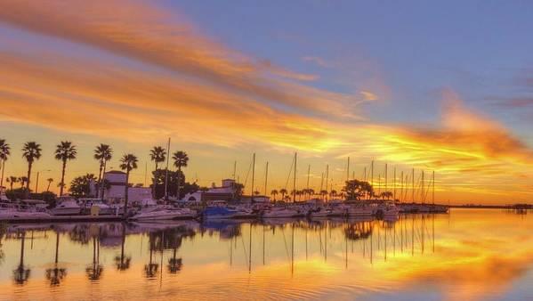 Sunrise Poster featuring the photograph Smyrna Yacht Club Sunrise II by DM Photography- Dan Mongosa