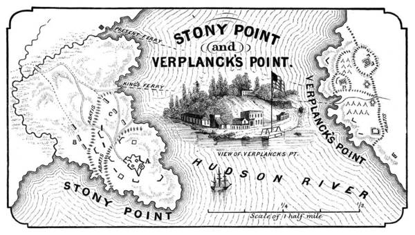 1779 Poster featuring the photograph Stony Point Map, 1779 by Granger