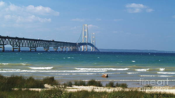 Mackinaw Bridge Poster featuring the photograph Straits Of Mackinac by Melissa McDole