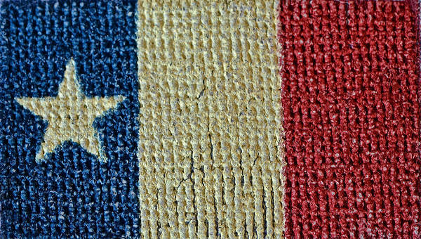 Texas Poster featuring the photograph Texas First Lone Star Dodson's Flag by Bill Owen