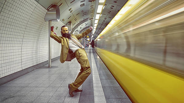 Tube Poster featuring the photograph The Golden Rush by Frank Waechter
