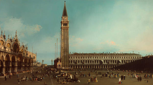 Painting Poster featuring the painting The Piazza San Marco Venice by Mountain Dreams