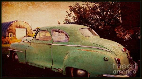Automobile Poster featuring the photograph Pistachio by Beth Ferris Sale