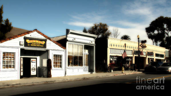 Dreamy Poster featuring the photograph Historic Niles District In California Near Fremont . Main Street . Niles Boulevard . 7d10676 by Wingsdomain Art and Photography