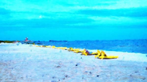 Beach Poster featuring the photograph Biloxi Beach by Scott Crump