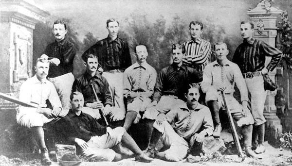 1880s Portaits Poster featuring the photograph Cincinnati Reds, Baseball Team, 1882 by Everett