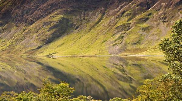Horizontal Poster featuring the photograph Crummock Water by All my images are taken in the english lakedistrict