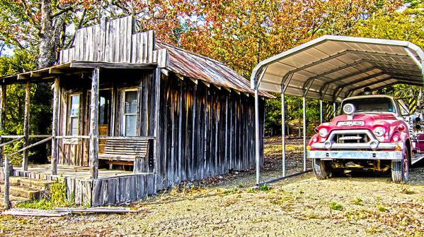 Fireman Cottage -ouachita Mountains Poster featuring the photograph Fireman Cottage by Douglas Barnard