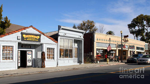 Long Size Poster featuring the photograph Historic Niles District In California Near Fremont . Main Street . Niles Boulevard . 7d10676 by Wingsdomain Art and Photography