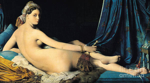 Pd Poster featuring the painting La Grande Odalisque by Pg Reproductions