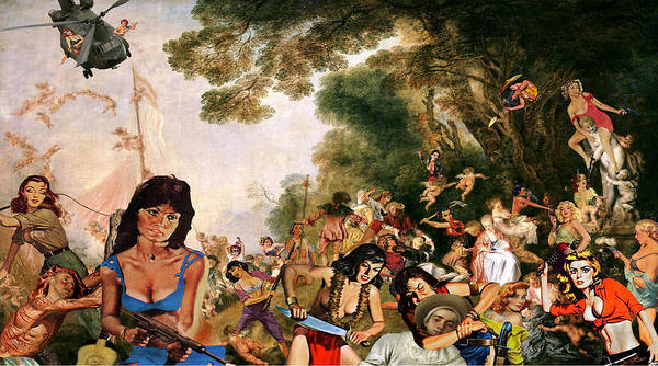Watteau Poster featuring the digital art Pilgrimage To The Isle Of Dangerous Women by Barry Kite