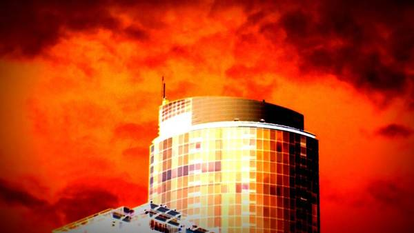 Red Sky Poster featuring the photograph Red Sky Vancouver by Randall Weidner