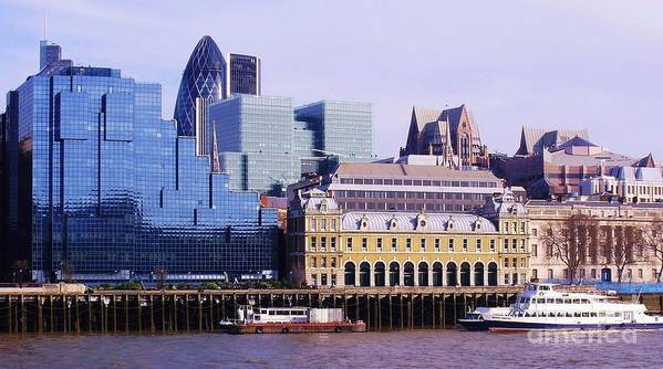 London Poster featuring the photograph Thames And Financial District - London by John Clark