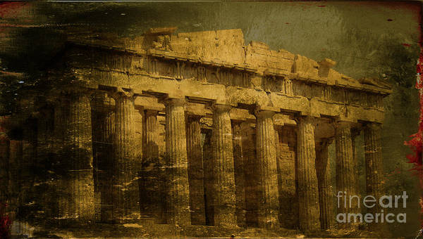 Acropolis Of Athens Poster featuring the photograph The Fall Of Athens by Lee Dos Santos