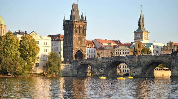 St. Charles Bridge Poster featuring the photograph View Of Karluv Most Prague by Nimmi Solomon