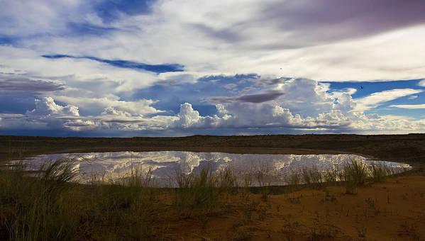 Clouds Poster featuring the photograph Kalahari Rain Dance by Basie Van Zyl