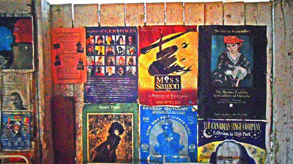 Gershwin Poster featuring the pyrography Poster Board by Cyryn Fyrcyd