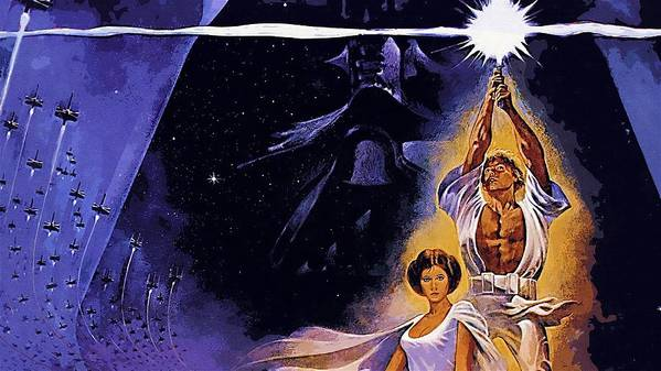 Star Wars Characters Poster featuring the digital art Star Wars Poster Art by Larry Jones